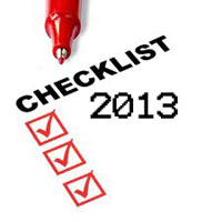 2013 Checklist Graphic