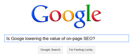 Google On-Page SEO Graphic