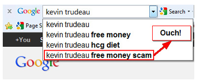 Google Suggest Negative Example Kevin Trudeau