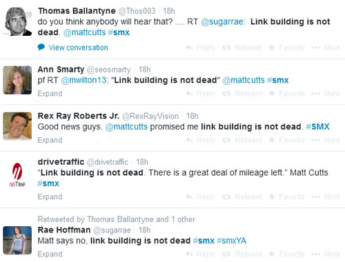 Link Building Not Dead Tweets Picture