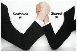 Dedicated vs Shared Hosting Graphic