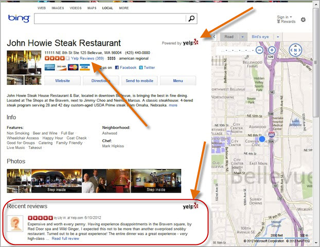 Yelp Integrates With Bing Local