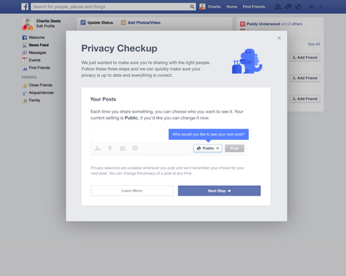Facebook Defaults New User Posts to Friends Only