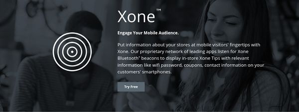 Xone Beacons from Yext Graphic